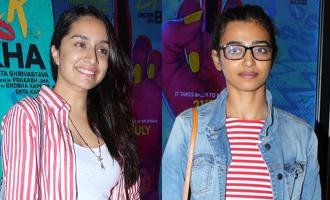 Shraddha Kapoor & Radhika Apte at 'Lipstick Under My Burkha' Screening