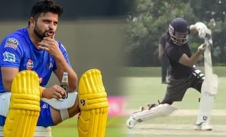 Suresh Raina amazed by Shahid Kapoor's practice session for upcoming movie 'Jersey'.