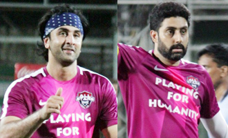 Ranbir Kapoor & Abhishek Bachchan at Grand Gala Football Match