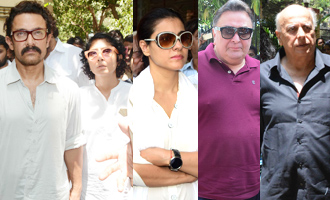 Bollywood Celebs at Funeral of Reema Lagoo