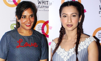 Richa Chadha, Gauhar Khan at Launch Exclusive Pret Line White Elephant