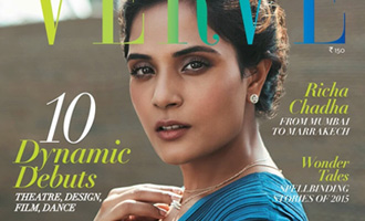 Richa Chadha sizzles on Verve Cover Page
