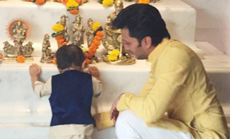 YOU WILL LOVE THIS: Riteish Deshmukh with baby Riaan on Diwali