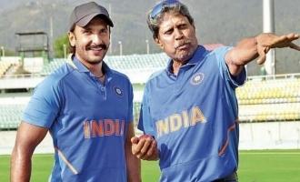 Watch Kapil Dev Trains Ranveer Singh With His Signature Shot!