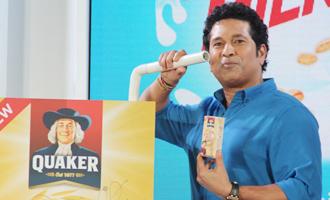 Sachin Tendulkar at Launch of Quaker Oats & Milk