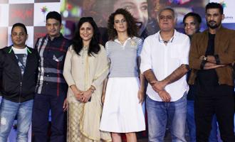 Kangana Ranaut & Hansal Mehta at Trailer Launch of 'Simran'