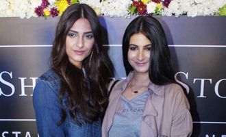 Sonam Kapoor & Rhea Kapoor at 'Rheson' A New Clothing Brand Launch