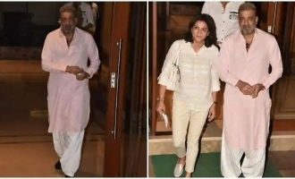 Sanjay Dutt returns home after beating cancer.