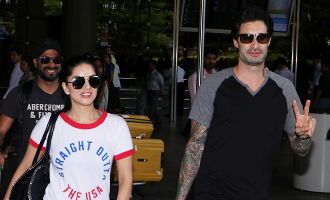 Sunny Leone With Daniel Weber Spotted at Airport