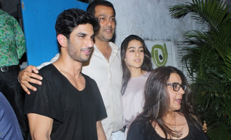Sushant Singh Rajput, Sara Ali Khan & Amrita Singh Spotted at Olive Bar & Kitchen