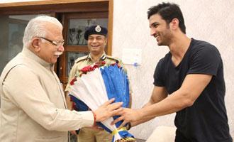 Sushant meets Haryana CM