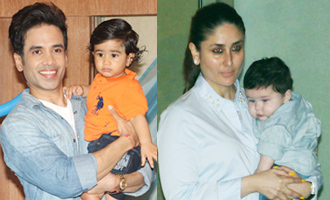 Kareena Kapoor With Baby Taimur at Tusshar Kapoor's Son Birthday Party