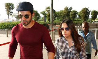 Varun Dhawan With His Girlfriend Spotted at Airport