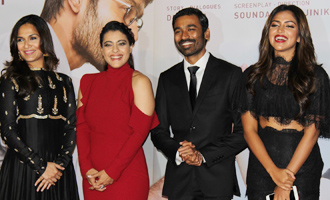 Kajol & Dhanush at Trailer & Music Launch of 'VIP 2'