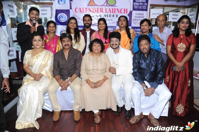 Flemingo Fashions Celebrity Calender Launch Press Meet