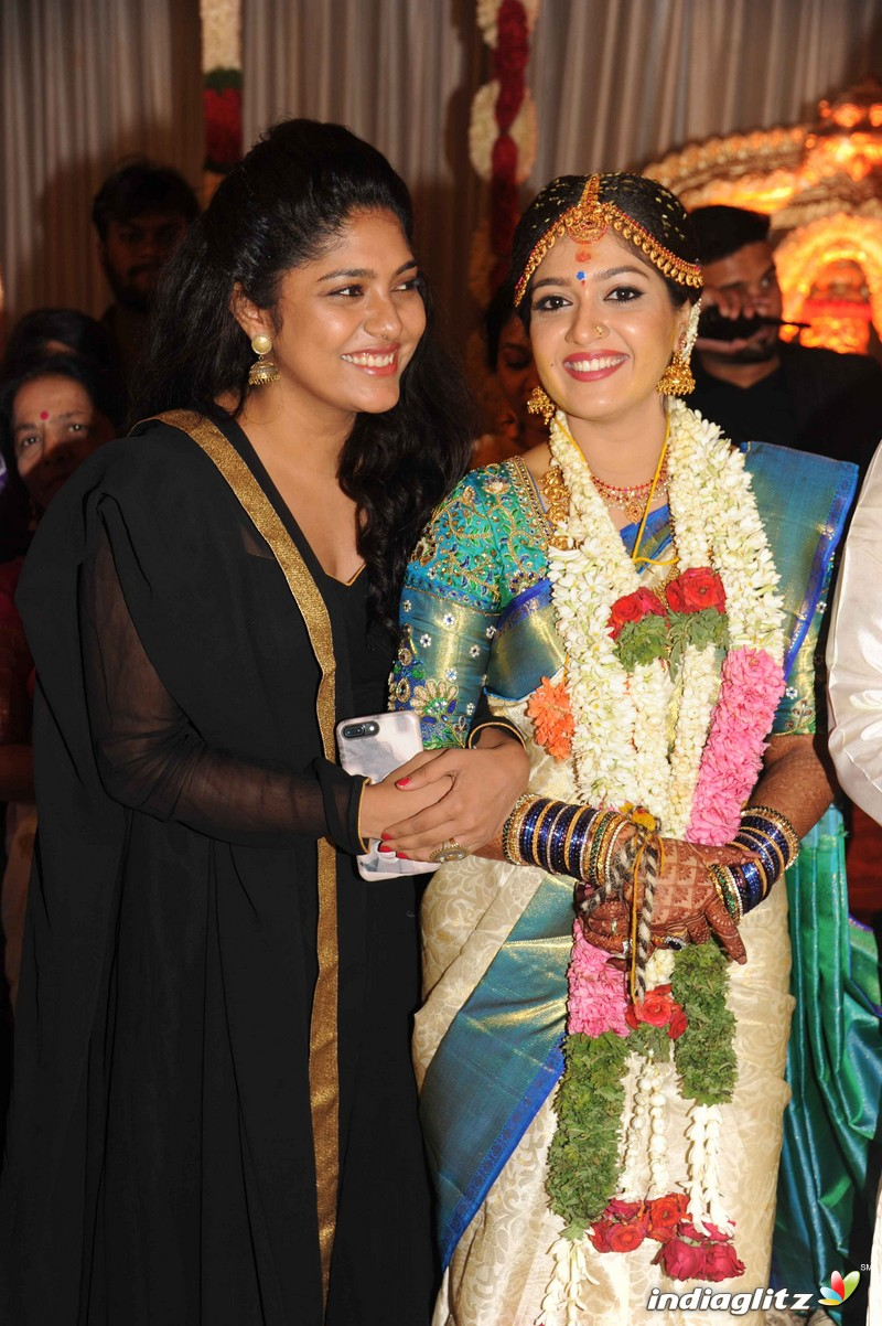 Meghana Raj With Chiranjeevi Sarja Wedding