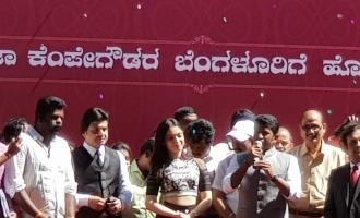 Tamanna and Puneeth at Pothys showroom