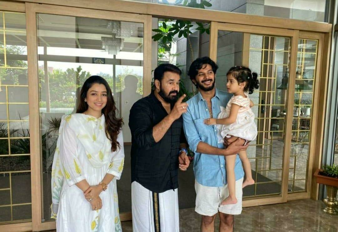 mohanlal dulquer baby