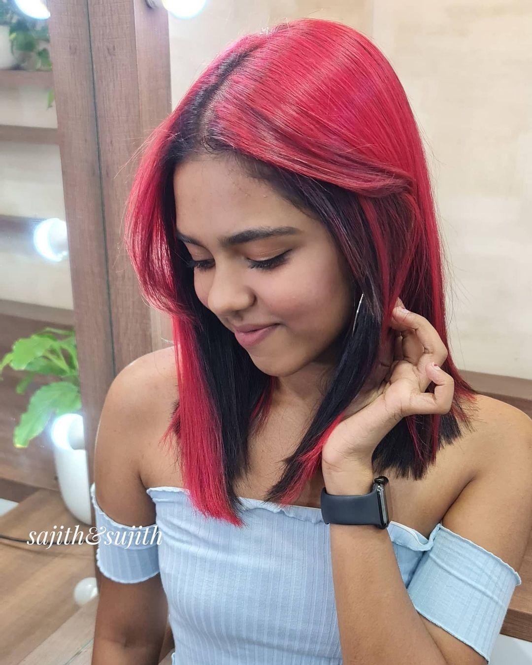 Prarthana hairstyle new