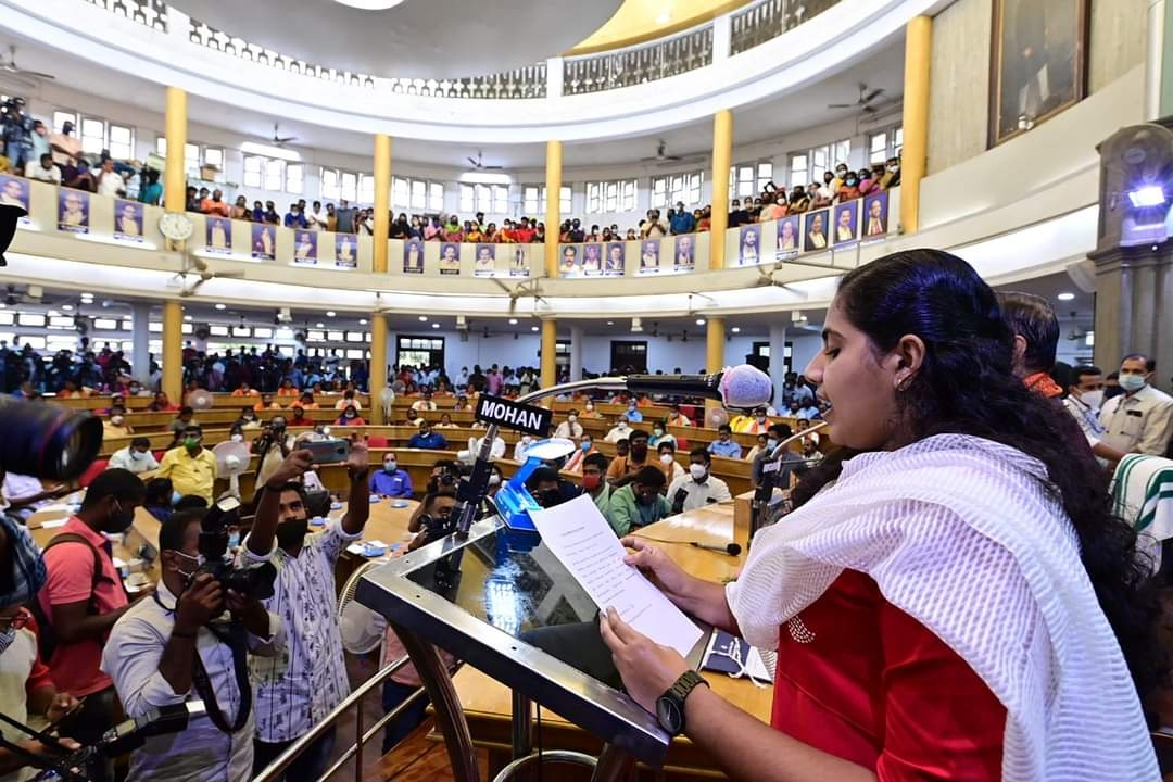 Kerala mayor 21 year old girl