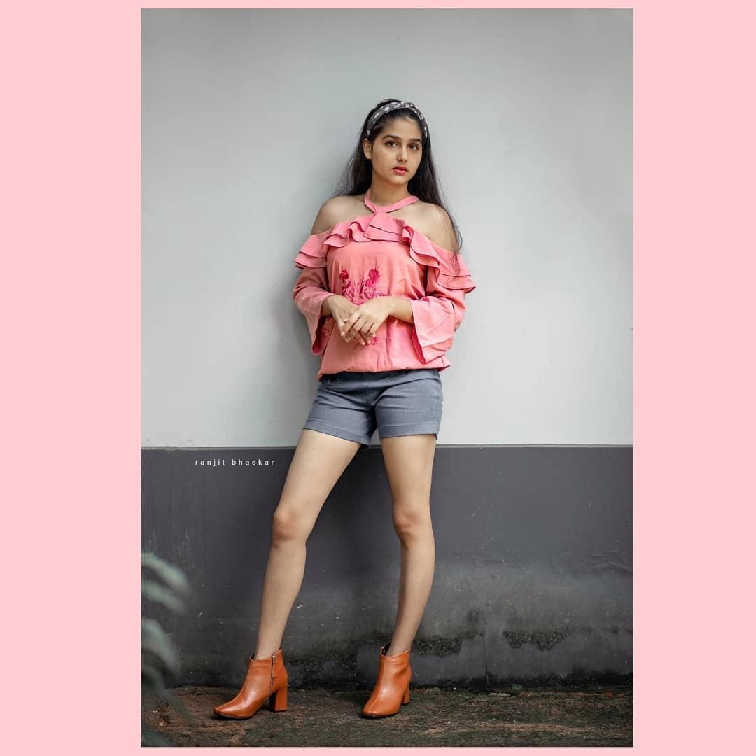 Anashwara Rajan shorts legs