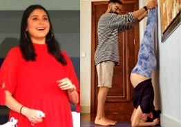 Viral pic: Pregnant Anushka Sharma performs Shirshana with Virat Kohli's help