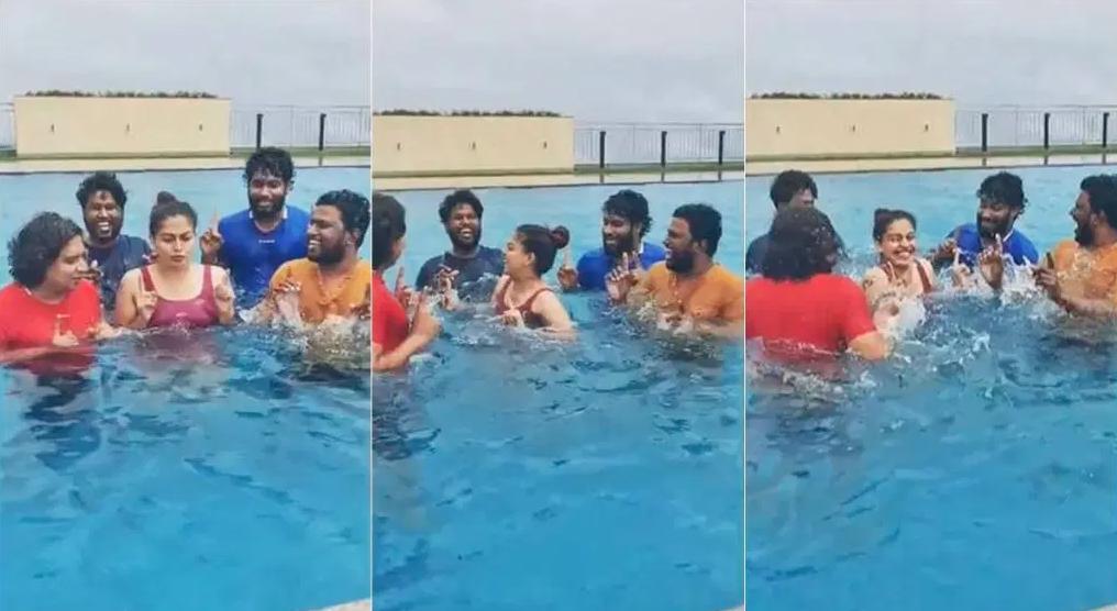 anushree swimming pook
