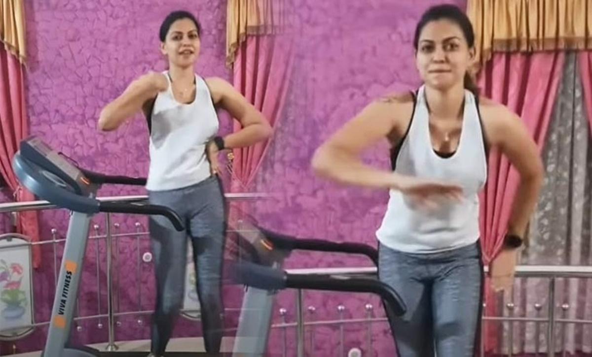anusree dance treadmill