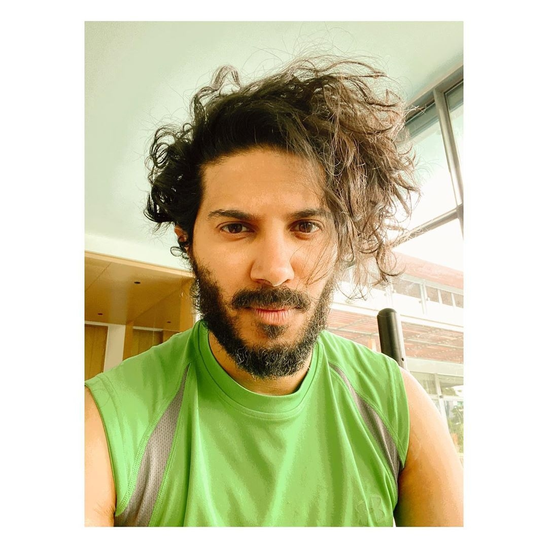 dulquer salmaan curly hair new look