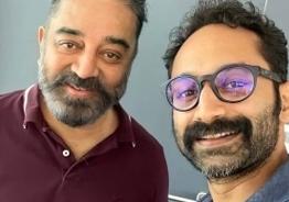 Fahadh Faasil clicks a selfie with Kamal Haasan