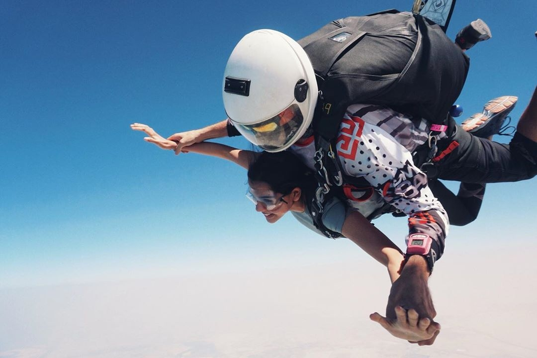 Priyadarshan sky diving