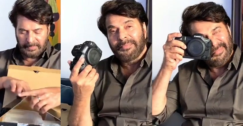 mammootty new camera unboxing video