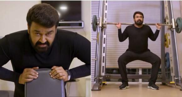 mohanlal gym video