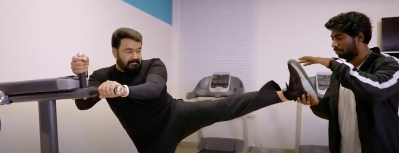 mohanlal gym video new goes viral
