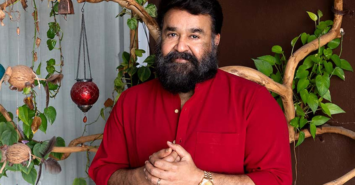 mohanlal red shirt