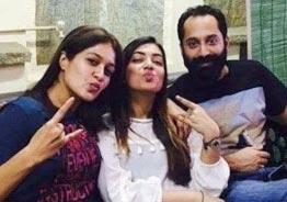 Nazriya and Fahadh visit Meghana Raj and baby at hospital