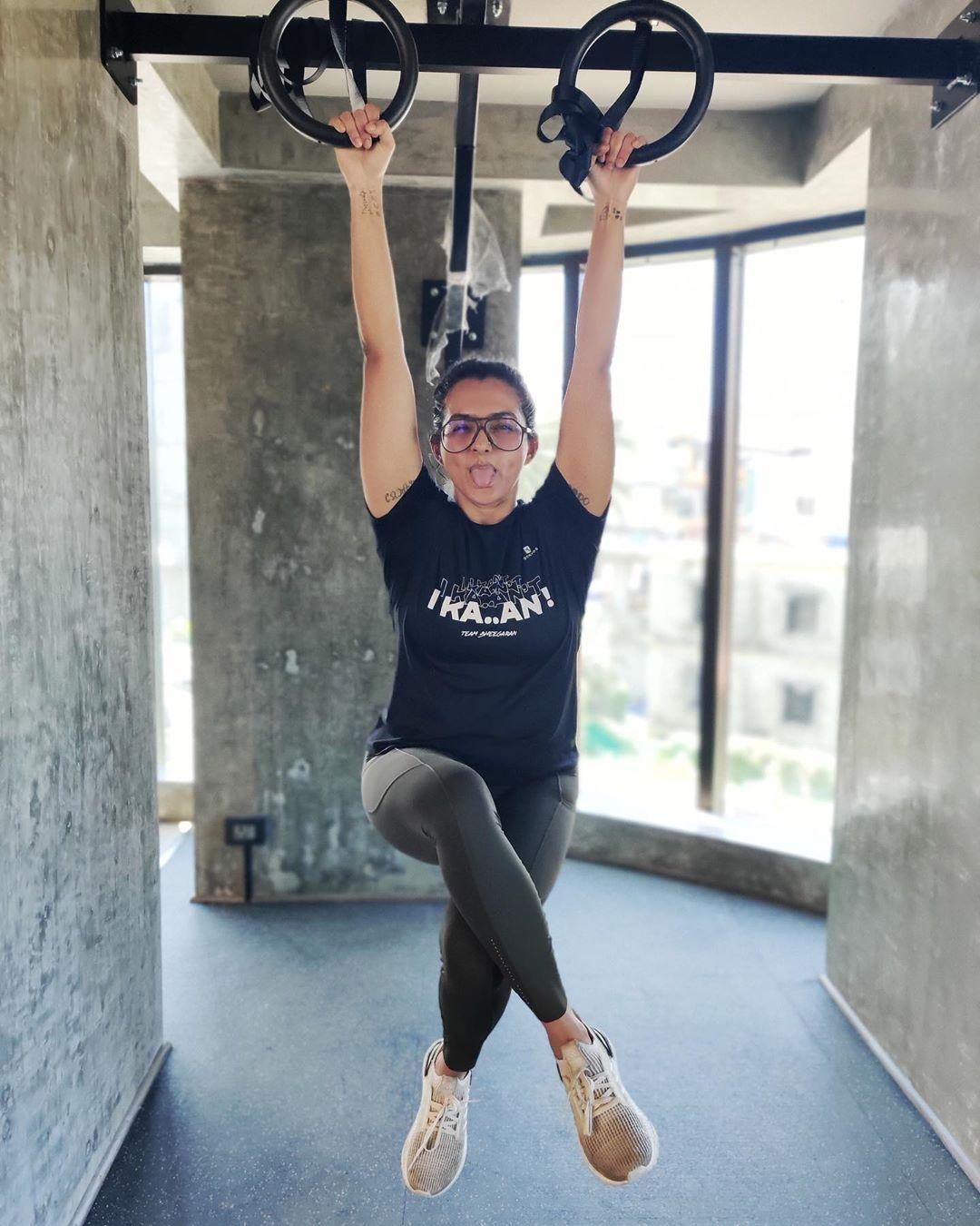 Parvathy photos workout