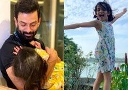 Prithviraj's cuddling pic with daughter is too cute to miss