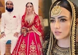 Actress Sana Khan enters wedlock