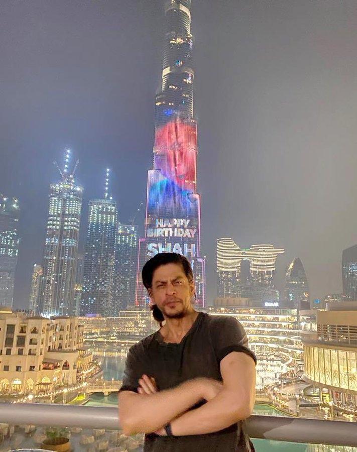 shah rukh khan birthday Burj khalifa