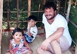 Lockdown: Popular Malayalam actor builds a tiny hut for his kids