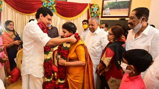 pinarayi daughter wedding 1