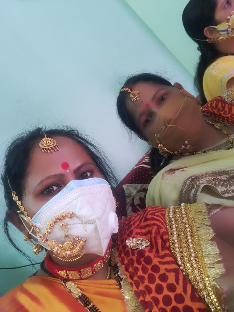 woman mask jwelery