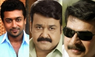 Suriya ecstatic about lifetime moment with Mammootty and Mohan Lal
