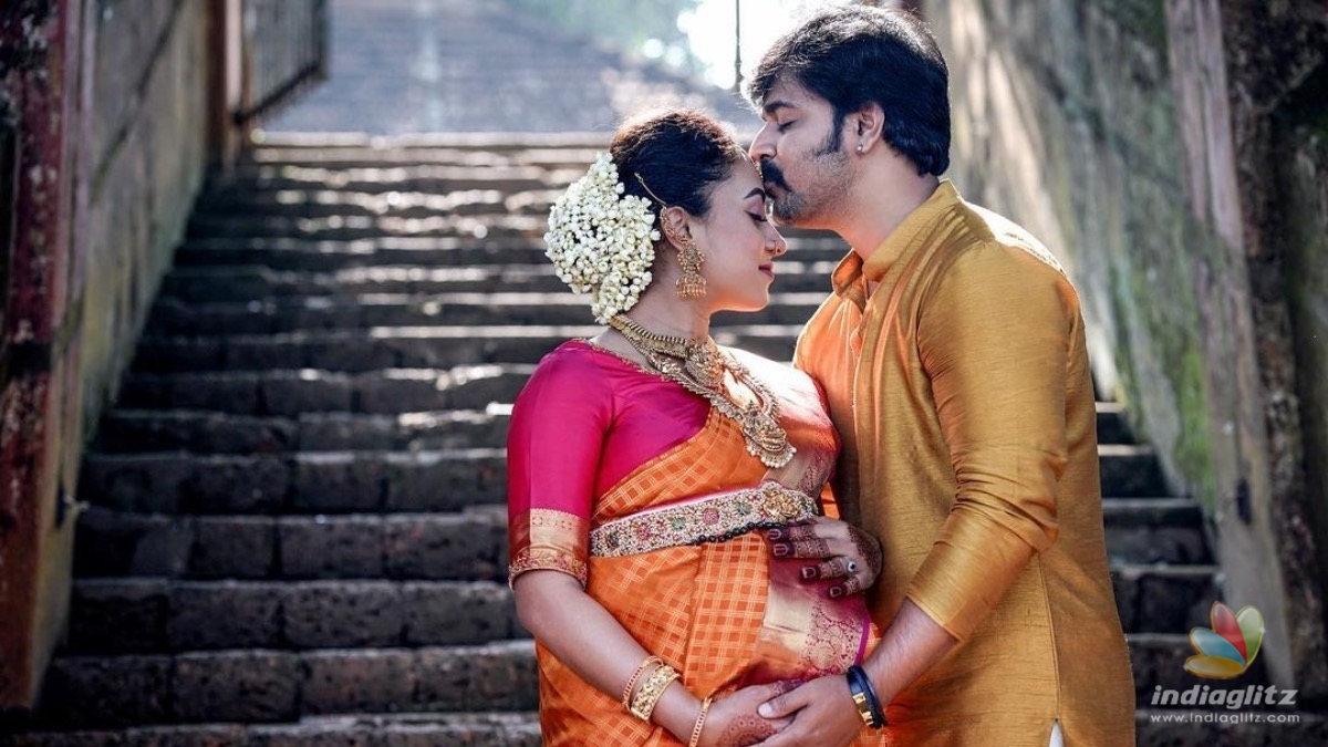 Pearle Maaney shares pics from her Valakapu ceremony