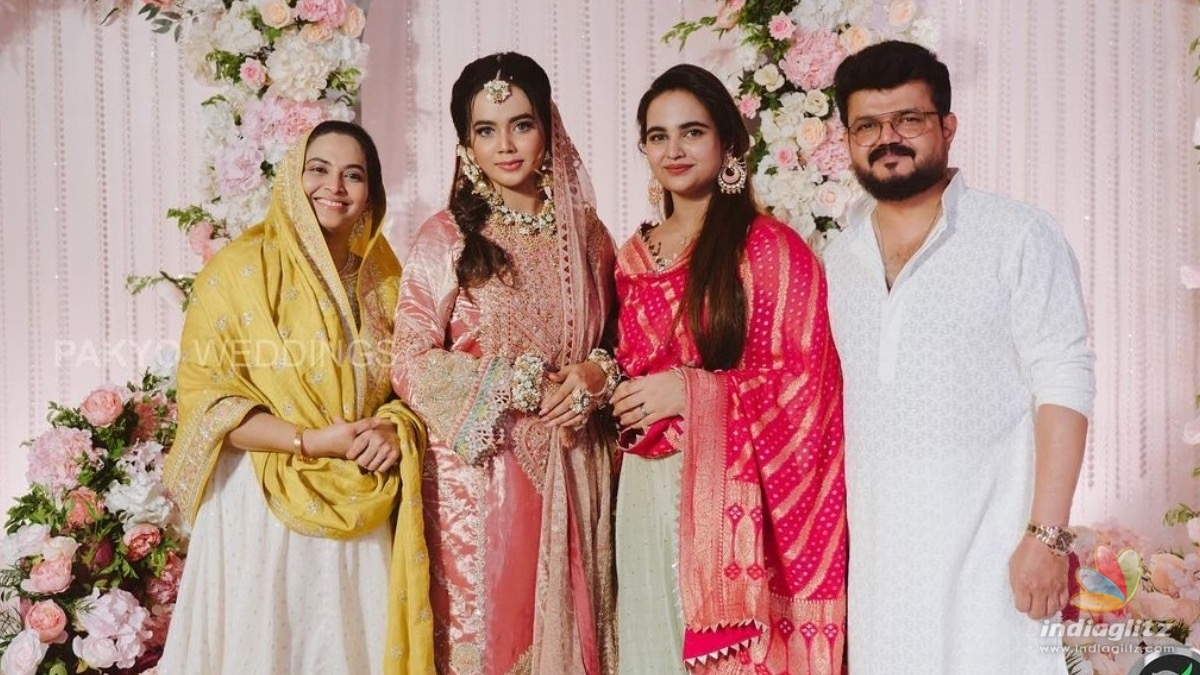 Dileep, Kavya, and daughter Meenakshi turn heads at Aayishas wedding function