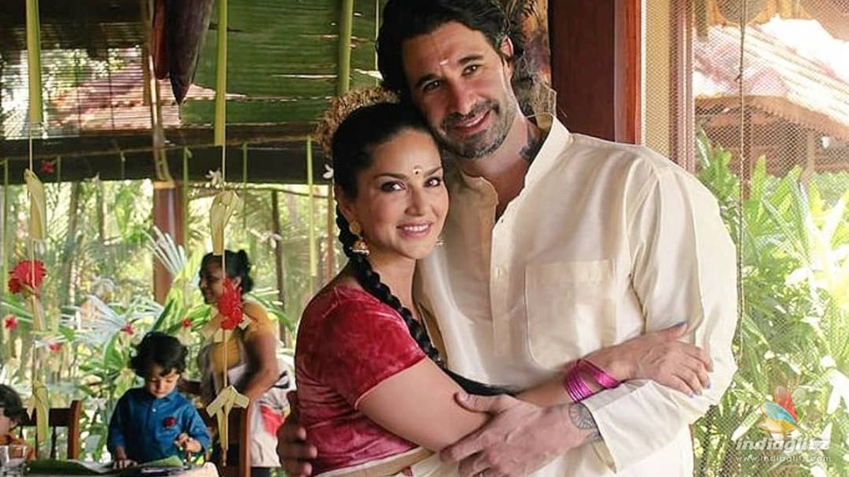 In pics: Sunny Leone and family look beautiful in Keralas traditional wears