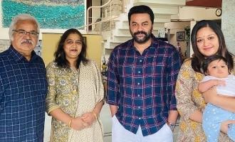 Actor Indrajith visits Meghna Raj at her house; pics go viral