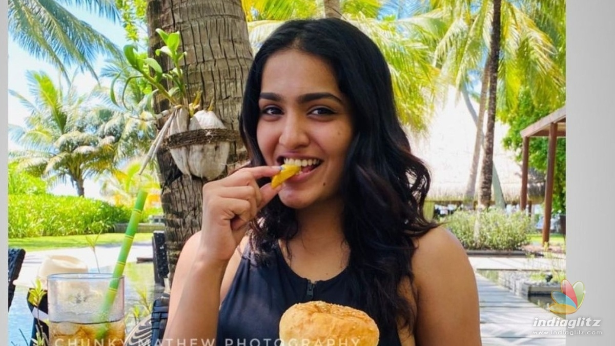 Viral pics: Actress Saniya Iyappan enjoys Maldives in bikini