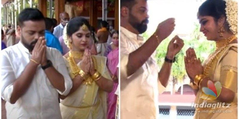 Actor Kochu Premans son enters wedlock